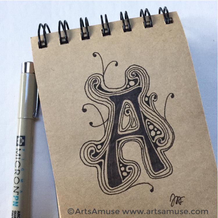 ©️2019 ArtsAmuse - Embedded Letters